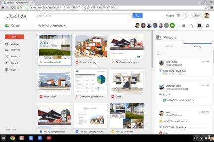 Google Drive activity updates example