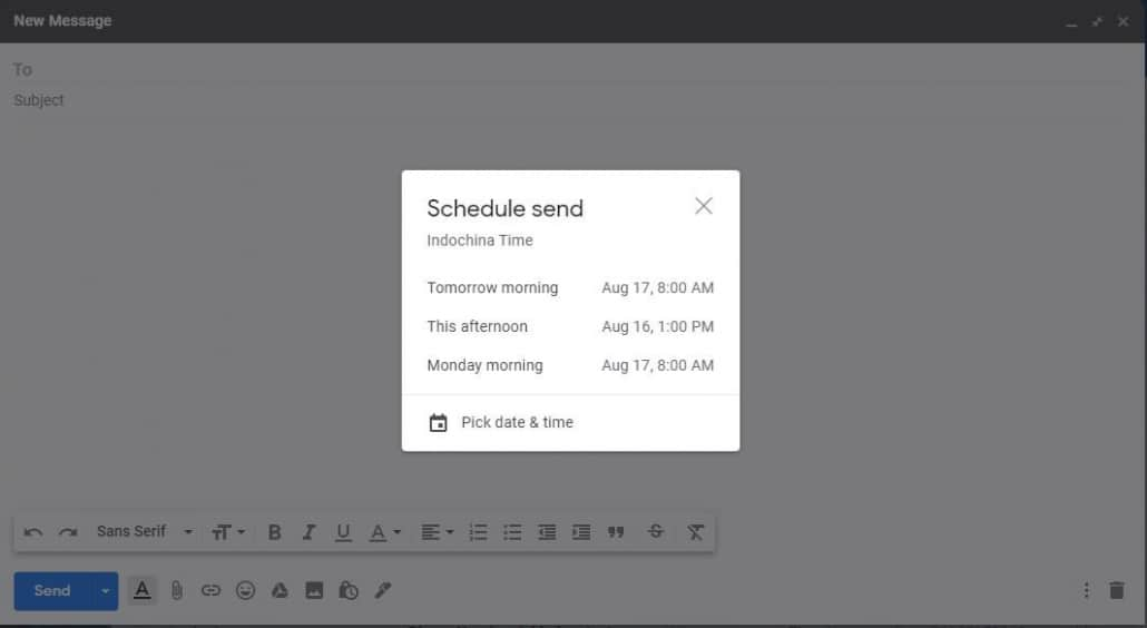 Create and send email 1