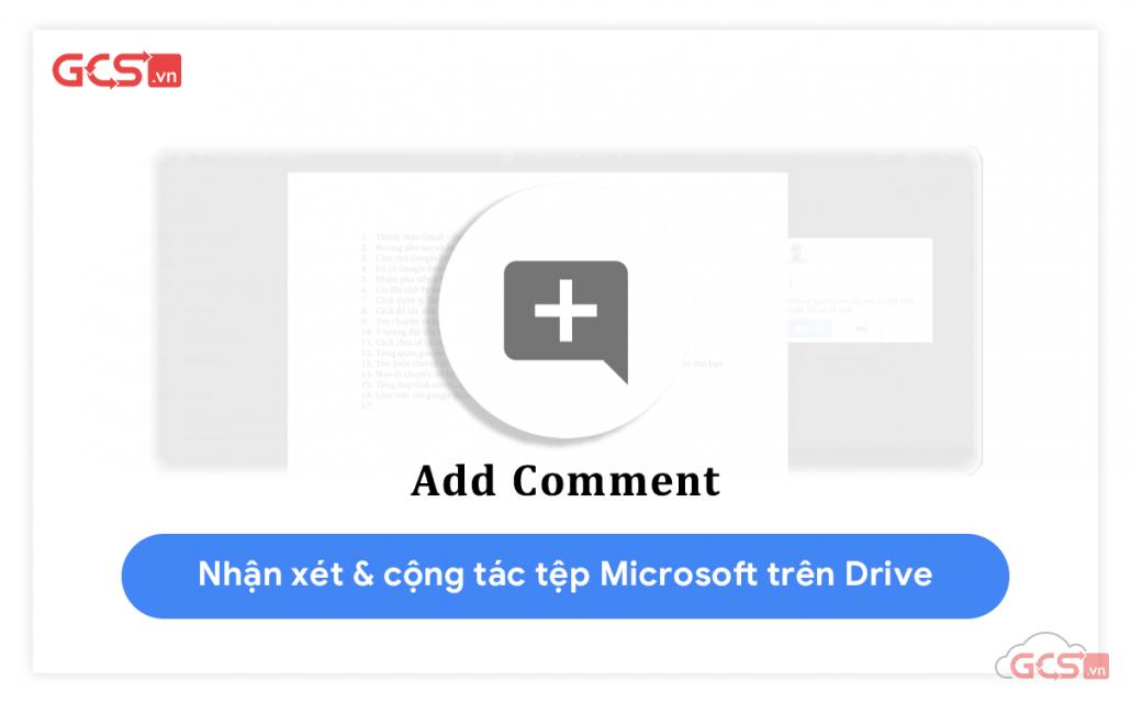 nhận xét và cộng tác trên các file trong google drive