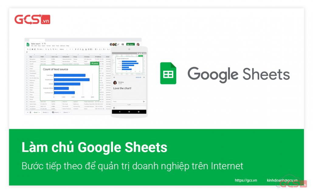 Làm chủ Google Sheets