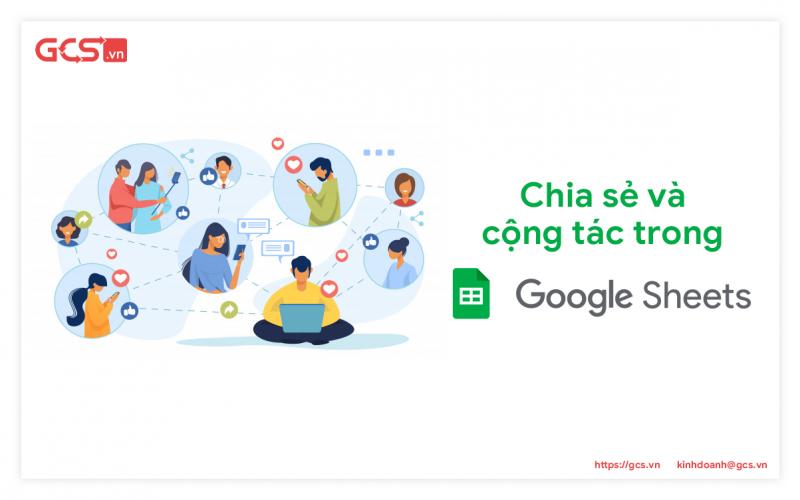 cộng tác trên File Google Sheets