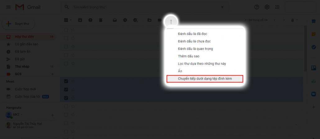 3 cách chuyển tiếp Email