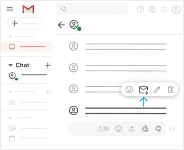 Chuyển tiếp tin nhắn trò chuyện tới email