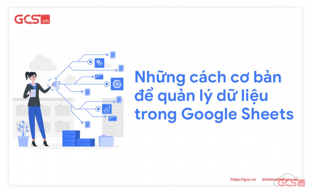 quản lý dữ liệu google sheets