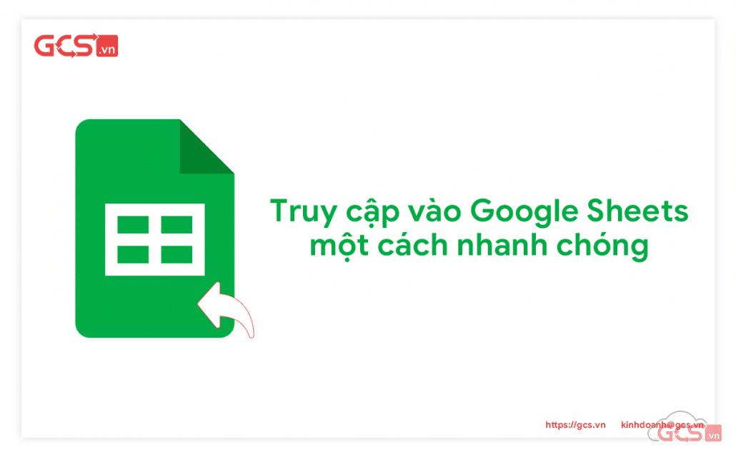 truy cập vào google sheets