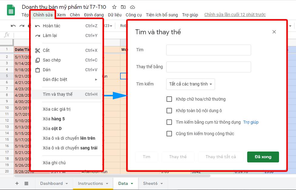 10 mẹo sử dụng Google Sheets