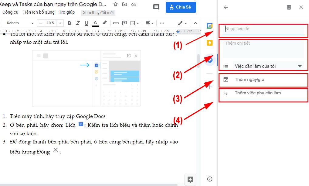 Công việc hiệu quả với Calendar