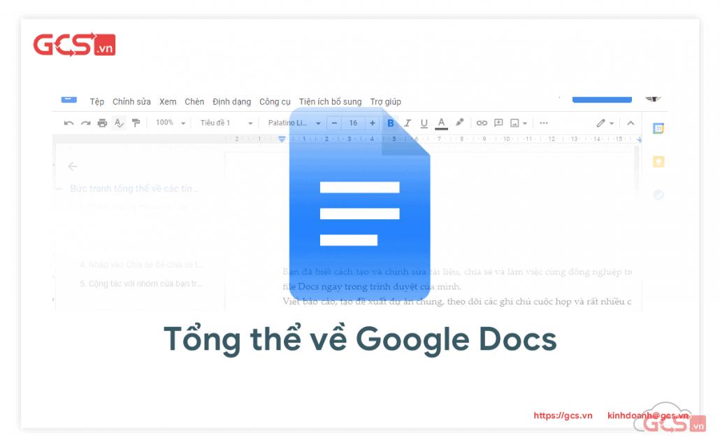 tính năng google docs