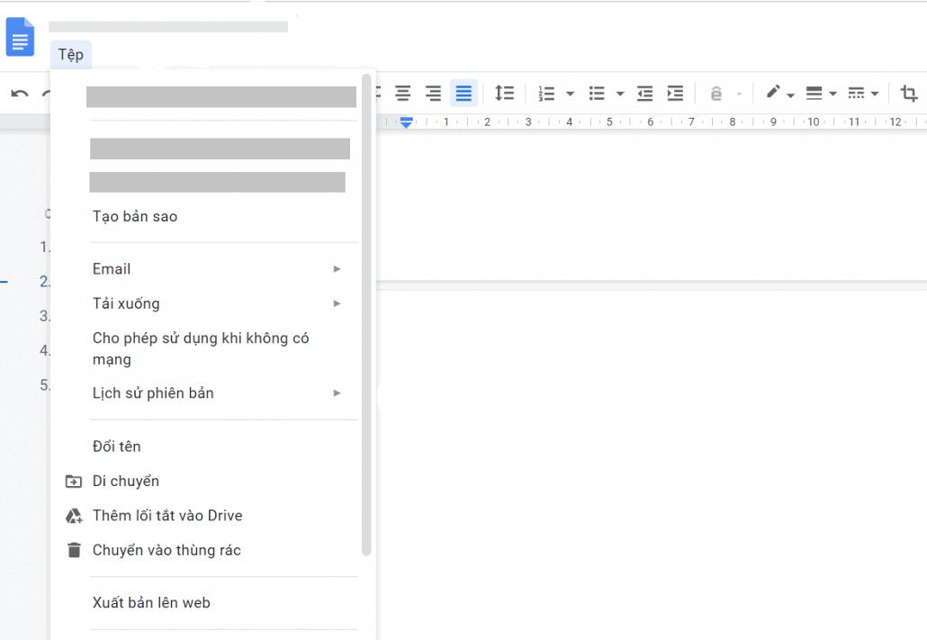 tính năng của Google Docs