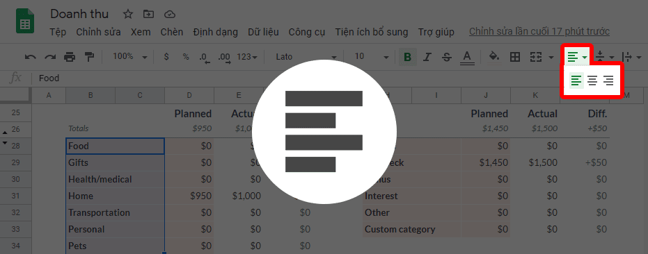 tổng quan google sheets
