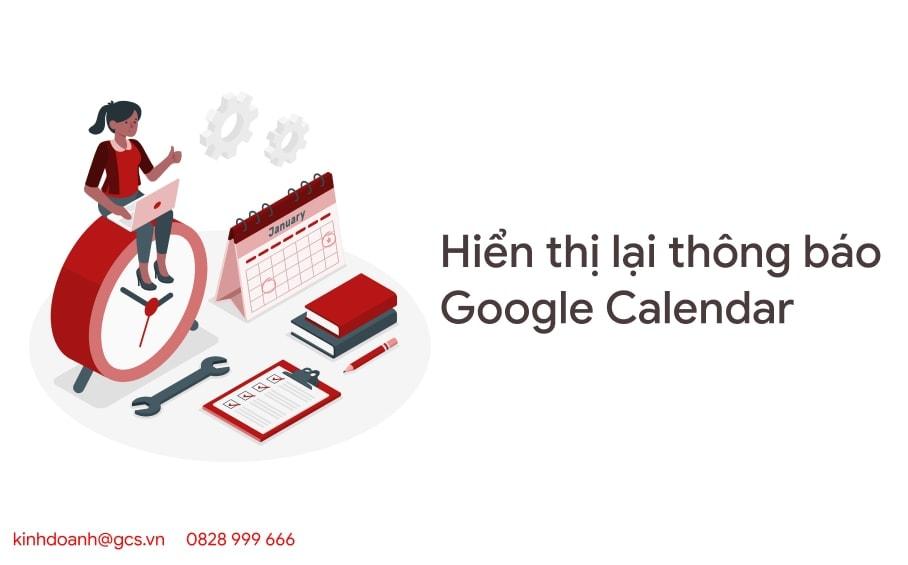 hien thi thong bao google calendar