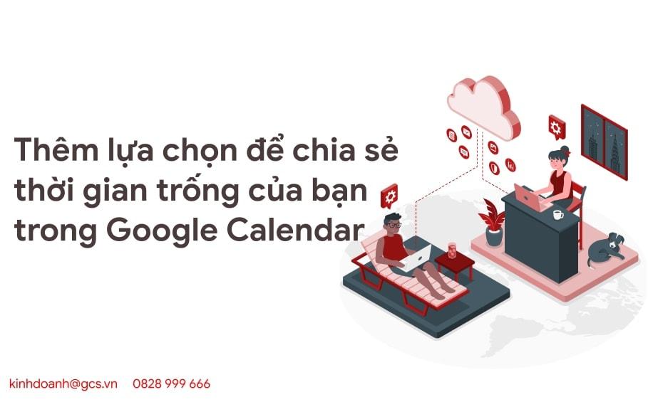them lua chon de chia se thoi gian trong cua ban trong google calendar