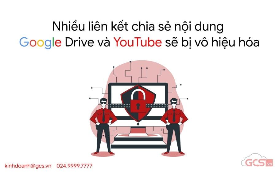 lien ket google drive youtube bi vo hieu hoa