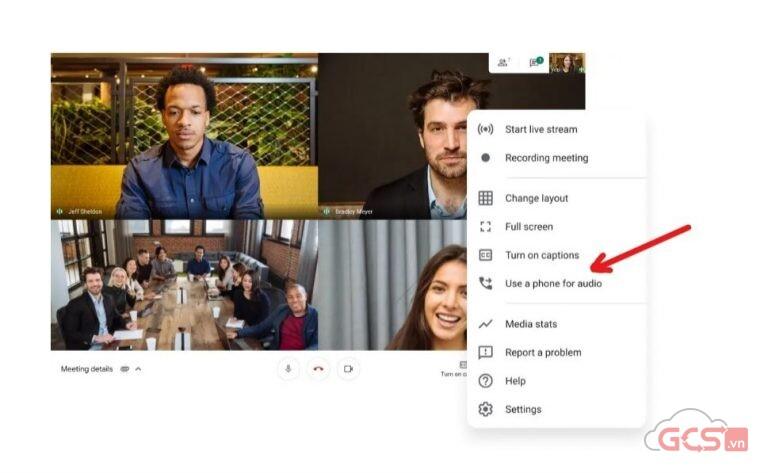 Join meeting via Phone Call in Google Meet