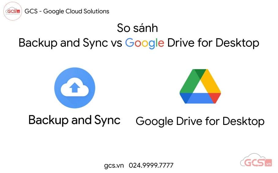 so sanh backup and sync vs google drive for desktop